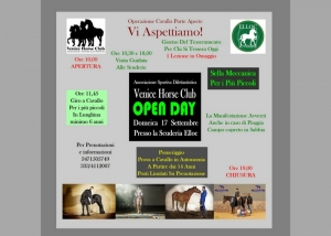 Open Day all'Associazione Sportiva Dilettantistica Venice horse Club.