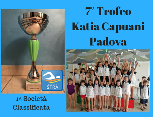Centro nuoto Stra. Un Mondo in Acqua. Trofeo Kapuani Primi Classificati.