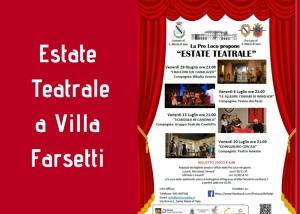 Estate Teatrale: quattro appuntamenti in Villa Farsetti